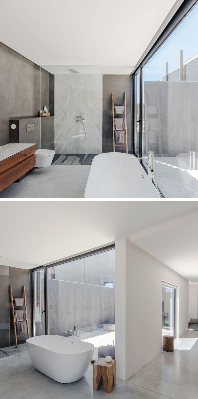 casa banho minimalista arquitetura portugal