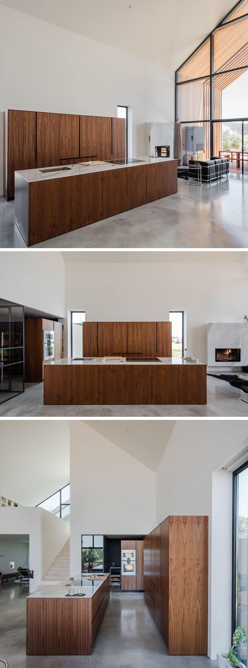 cozinha moderna madeira arquitetura portugal