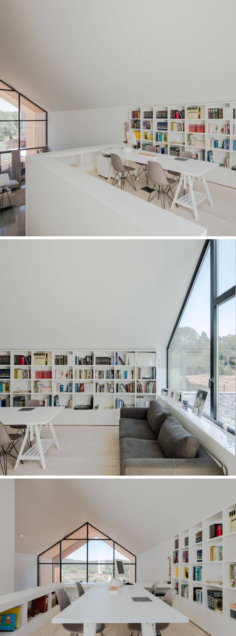 escritorio minimalista branco arquitetura portugal