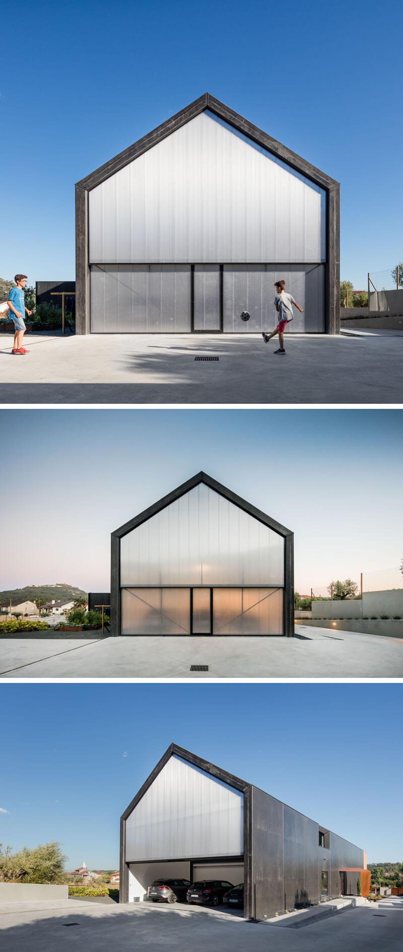 exterior garagem moderna arquitetura portugal